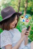 изображение сети 3d представило social стоковая фотография rf