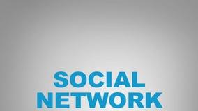 изображение сети 3d представило social Стоковое Изображение