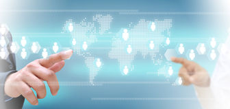 изображение сети 3d представило social Стоковое фото RF