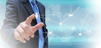 изображение сети 3d представило social Стоковые Изображения