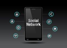 изображение сети 3d представило social Стоковое Изображение RF