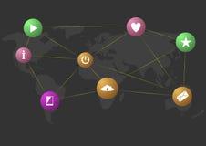 изображение сети 3d представило social Стоковые Изображения RF