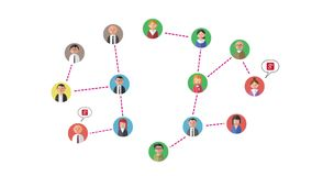 изображение сети 3d представило social