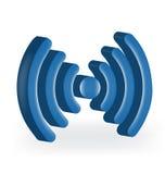 Изображение сигнала интернета голубое Стоковая Фотография RF