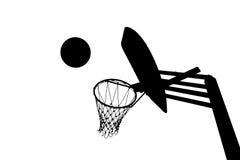 Изображение силуэта цели баскетбола Стоковые Фотографии RF
