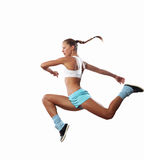 Изображение скакать женщины спорта стоковое изображение rf