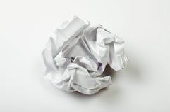 Скомканный бумажный шарик стоковые фото