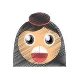 изображение смайлика сюрприза девушки чертежа стоковое фото rf