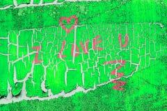 Маркированное сообщение влюбленности Стоковая Фотография