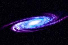 Изображение спиральной галактики Спиральная галактика в глубоком космосе с предпосылкой поля звезды Предпосылка произведенная ком Стоковое Изображение RF
