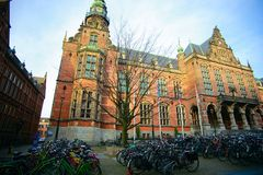 Изображение старого академичного здания университета Groningen Стоковые Фотографии RF