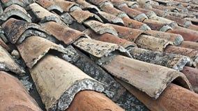 Старая ая черепицей крыша Стоковые Фотографии RF