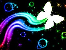 Изображение стиля настольного компьютера искры бабочки Стоковая Фотография