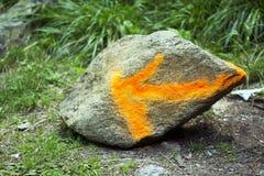 изображение стрелки 3d представило знак Стоковое Изображение