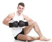 изображение студии от молодого боксера Стоковые Фотографии RF