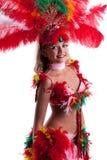 Изображение ся молодой женщины в костюме празднества Стоковые Фотографии RF