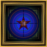 Изображение с пестротканой целью с красной звездой Стоковое Изображение