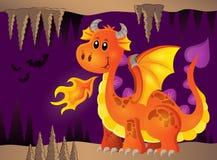 Изображение с счастливой темой 8 дракона Стоковые Изображения