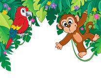Изображение с темой 5 джунглей Стоковые Фотографии RF
