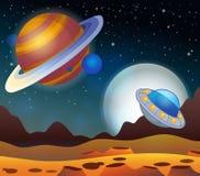 Изображение с темой 2 космоса Стоковые Фото