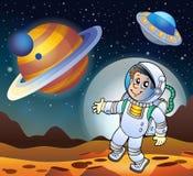 Изображение с темой 7 космоса Стоковое Фото