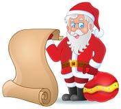 Изображение с темой 5 Санта Клауса Стоковое Изображение RF