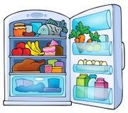 Изображение с темой 1 холодильника иллюстрация штока