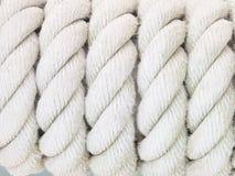Изображение текстуры белой веревочки Стоковое Фото