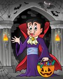 Изображение 7 темы вампира хеллоуина Стоковое фото RF