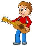 Изображение 1 темы гитариста мальчика бесплатная иллюстрация