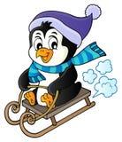 Изображение 1 темы пингвина Sledging иллюстрация штока