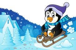 Изображение 3 темы пингвина Sledging бесплатная иллюстрация