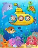 Изображение 4 темы подводной лодки Стоковая Фотография
