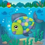 Изображение 3 темы пресноводной рыбы Стоковое Изображение