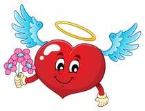 Изображение 7 темы сердца валентинки Стоковые Изображения