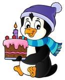Изображение 1 темы торта удерживания пингвина иллюстрация штока