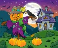 Изображение 4 темы чучела хеллоуина иллюстрация вектора