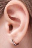Изображение уха ребенка стоковые изображения rf