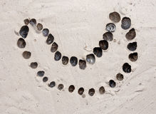 Изображение улиток в песке Стоковые Изображения
