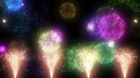 Изображение фейерверков сток-видео