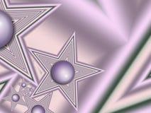 Изображение фрактали с звездами текст ваш фиолетовый цвет Стоковые Фотографии RF