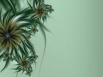 Изображение фрактали с цветками текст ваш Зеленый цвет Стоковые Изображения