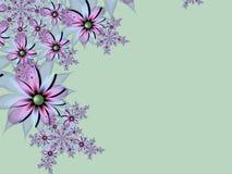 Изображение фрактали с цветками текст ваш Зеленый цвет Стоковое Фото