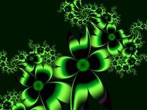 Изображение фрактали с цветками текст ваш Зеленый цвет Стоковая Фотография RF