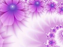 Изображение фрактали с цветками текст ваш фиолетовый цвет Стоковые Изображения RF
