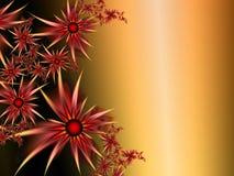 Изображение фрактали с цветками текст ваш Цвет Brown Стоковые Фото