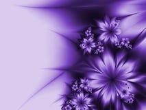 Изображение фрактали с цветками текст ваш Стоковые Изображения