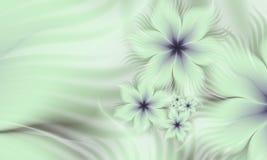 Изображение фрактали с цветками текст ваш Стоковые Фото