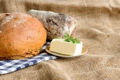 Изображение хлебца и масла хлеба Стоковые Фото