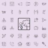 изображение человека в значке природы Детальный комплект значков средств массовой информации Наградной качественный знак графичес Стоковое Изображение RF